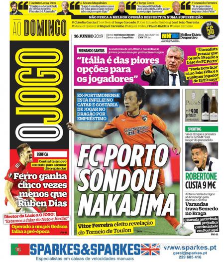 FC Porto possibility of rescuing Nakajima