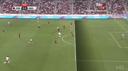 Vissel Kobe vs Nagoya Grampus Maeda offside goal