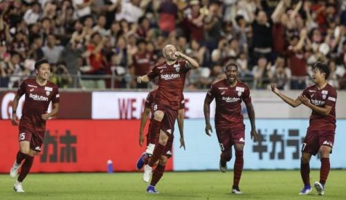 Andres Iniesta (Vissel Kobe) 2 goals vs Nagoya Grampus