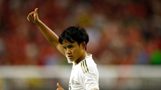 Real Madrid kubo takefusa debuts