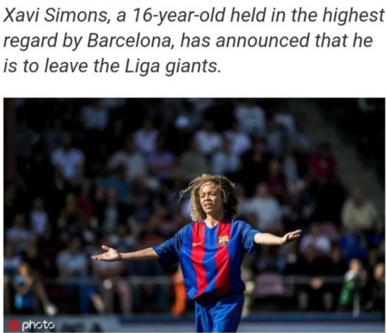Xavi Simons confirms hes leaving Barcelona, likely to Paris Saint-Germain