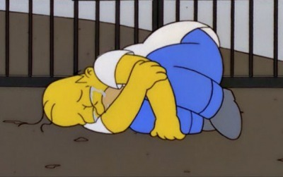 simpson crying