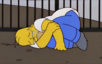 simpson crying