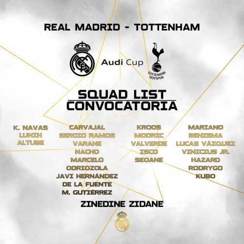 Kubo is on squad list Real Madrid for Audi Cup
