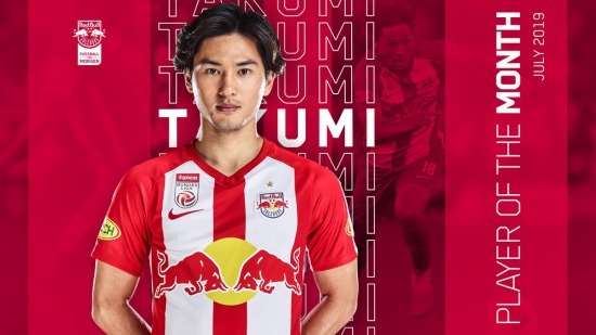 Takumi Minamino took the Player of the Month award for July 2019