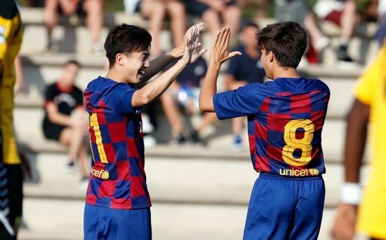 Goal Hiroki Abe Barcelona B FCBMasia