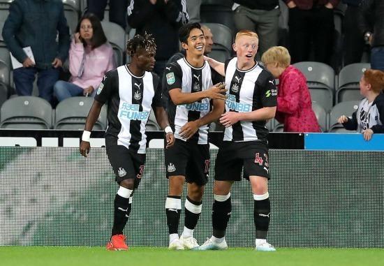 Newcastle [1]-1 Leicester Yoshinori Muto goal
