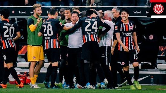 Frankfurt 3-0 Strasbourg kamada assist