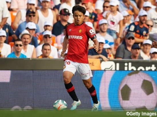 Takefusa Kubo made his league debut for RCD Mallorca