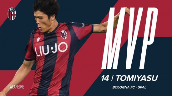 Takehiro wins MVP for the second match in a row at Bologna
