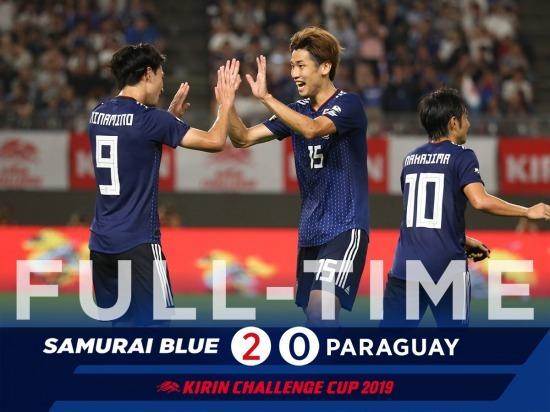 Japan 2-0 Paraguay osako minamino goals