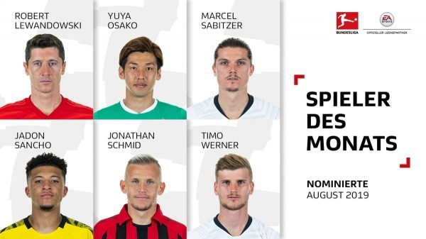 The Bundesliga August Player of the Month nominees Osako Yuya