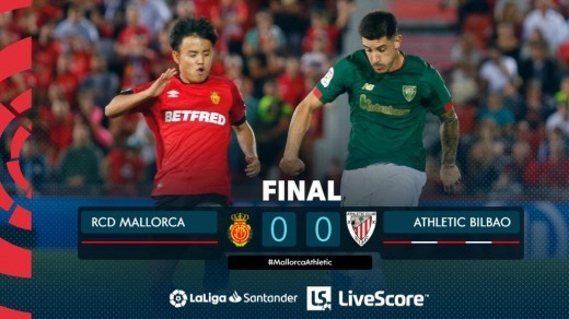 Mallorca 0-0 Athletic Club Kubo winning the penalty