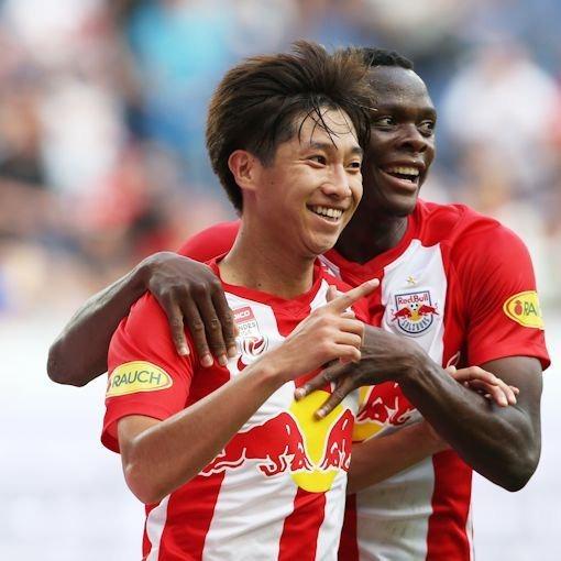 RB Salzburg 7-2 Hartberg Okugawa goal