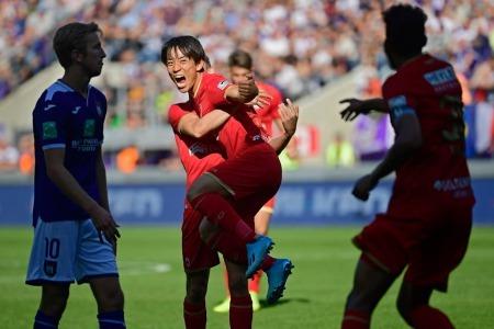 Koji Miyoshi's first goal in Belgium