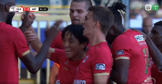 Kouji Miyoshi made his debut and scored a goal for the first time