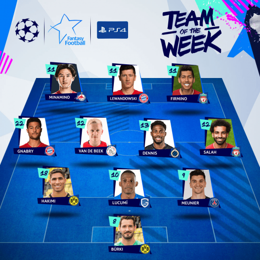 Minamino ist im UEFA Champions League Team of the Week