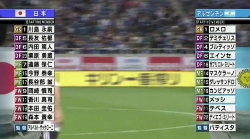 2010 JAPAN 1-0 ARGENTINA okazaki goal