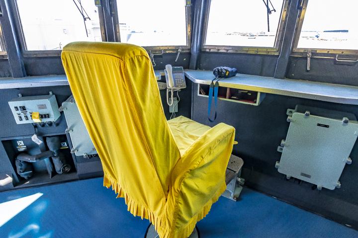 ASE-6102 試験艦あすか ブリッジ内左舷開発隊群司令席