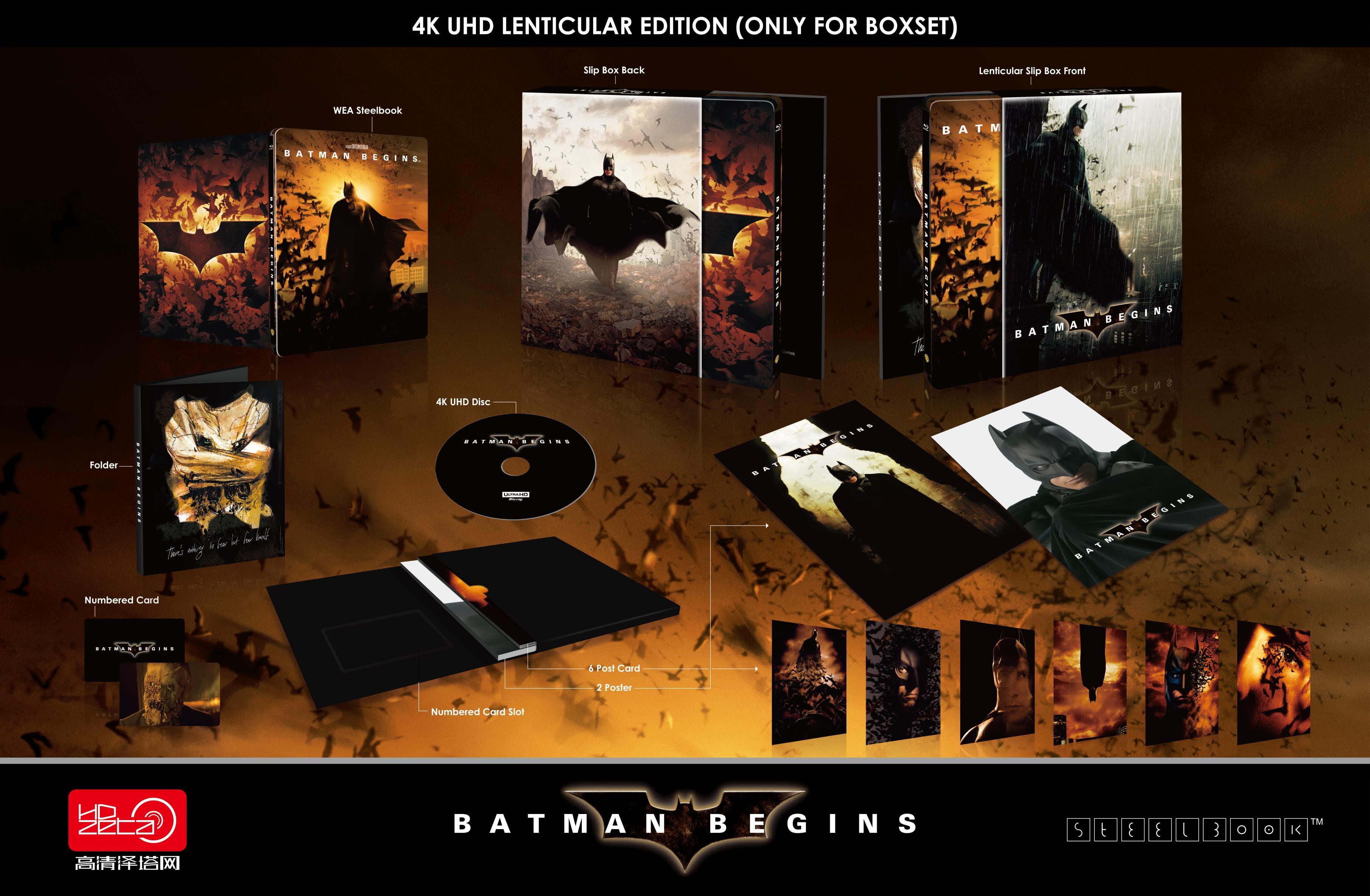 バットマン ビギンズ スチールブック Batman Begins HDZeta Lenticular BOX steelbook