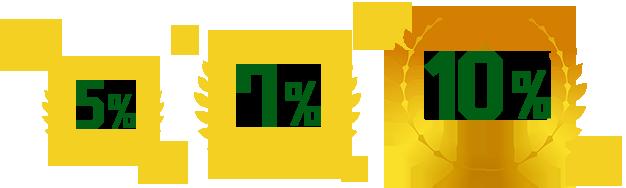 最大10%還元ボーナス