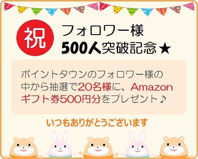 Instagramフォロワー500人突破記念
