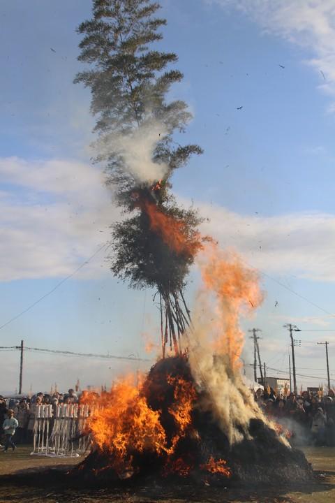 燃え盛る塞の神