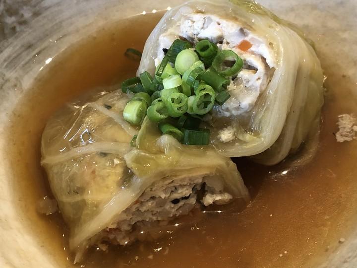 メインの和風ロール白菜