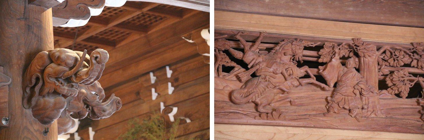 本成寺の欄間と象鼻