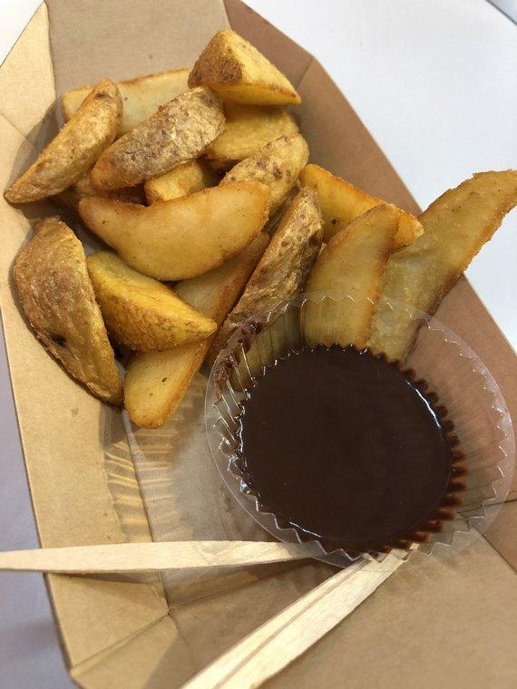 ドゥルミアン ベルジャンフライのベルジャンチョコレートソース添え