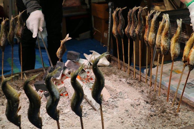 いろり茶屋 火処の鮎の塩焼き