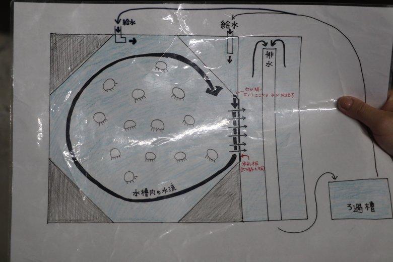 大水槽の仕組み図