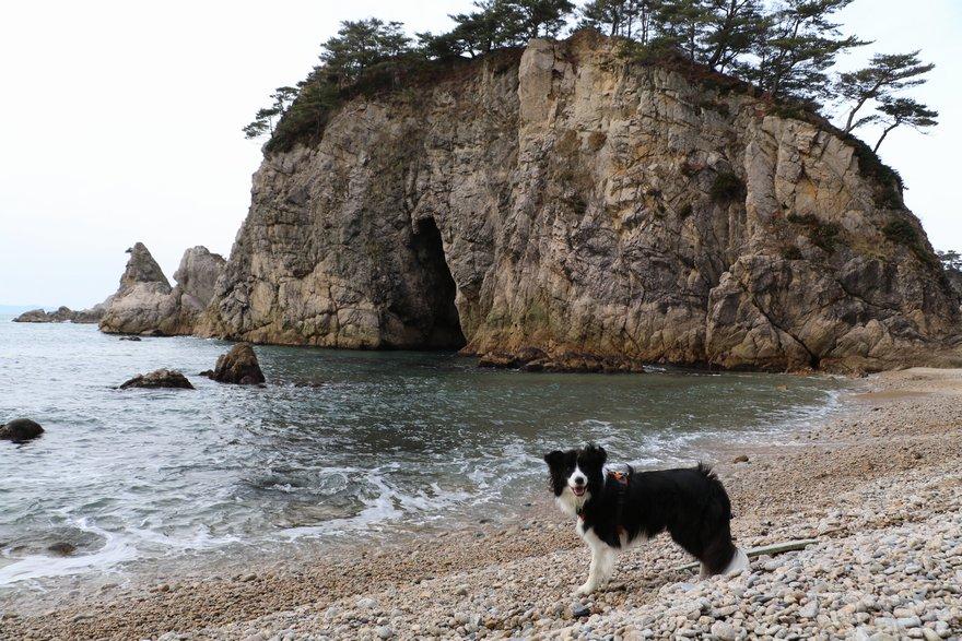 眼鏡岩とDawn太