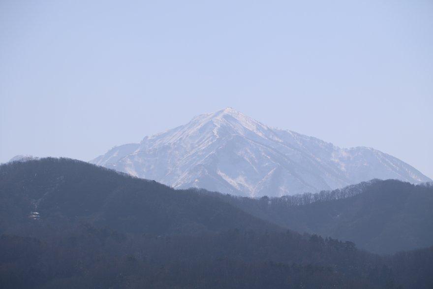 恋人岬から見える米山