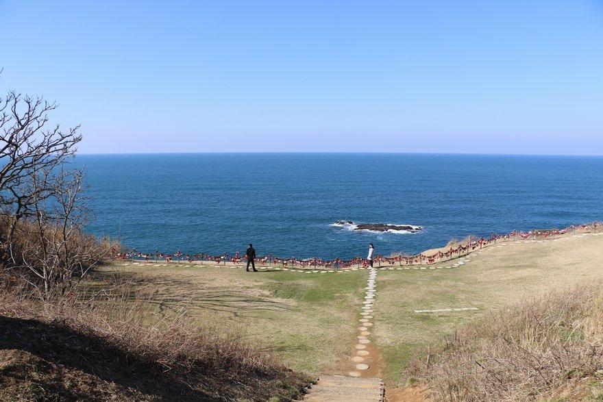 恋人岬から見る日本海