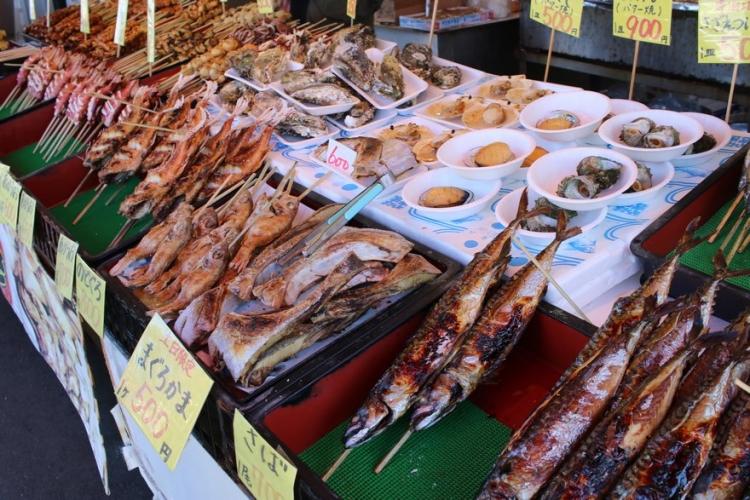 魚のアメ横名物の浜焼き
