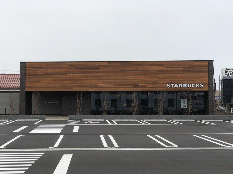OPEN前日のスターバックスコーヒー柏崎穂波町店