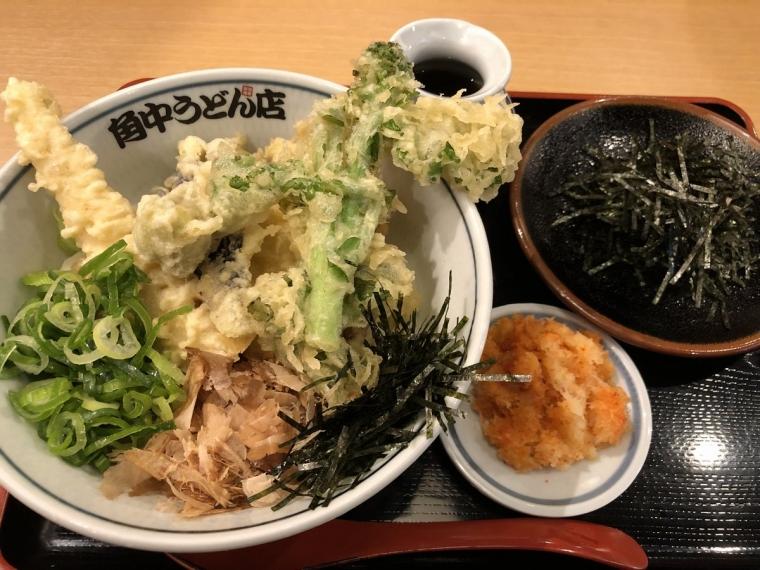 春野菜天ぷらぶっかけうどん