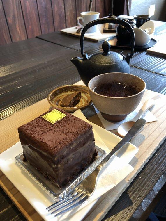 CHOCOLATEI瓢湖店のケーキセット