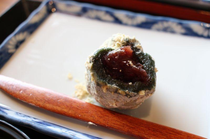 長岡赤飯御膳の甘味