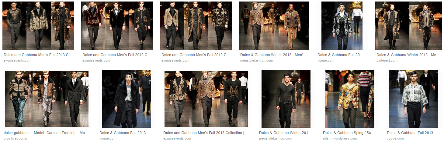 dolce and gabbana mens 2013