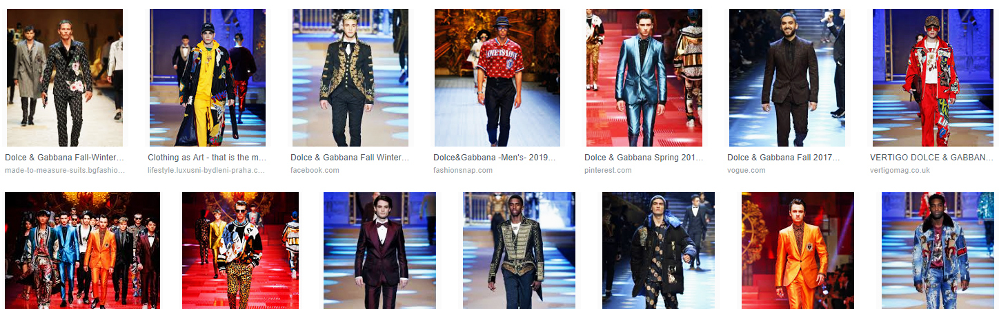 dolce and gabbana mens 2018
