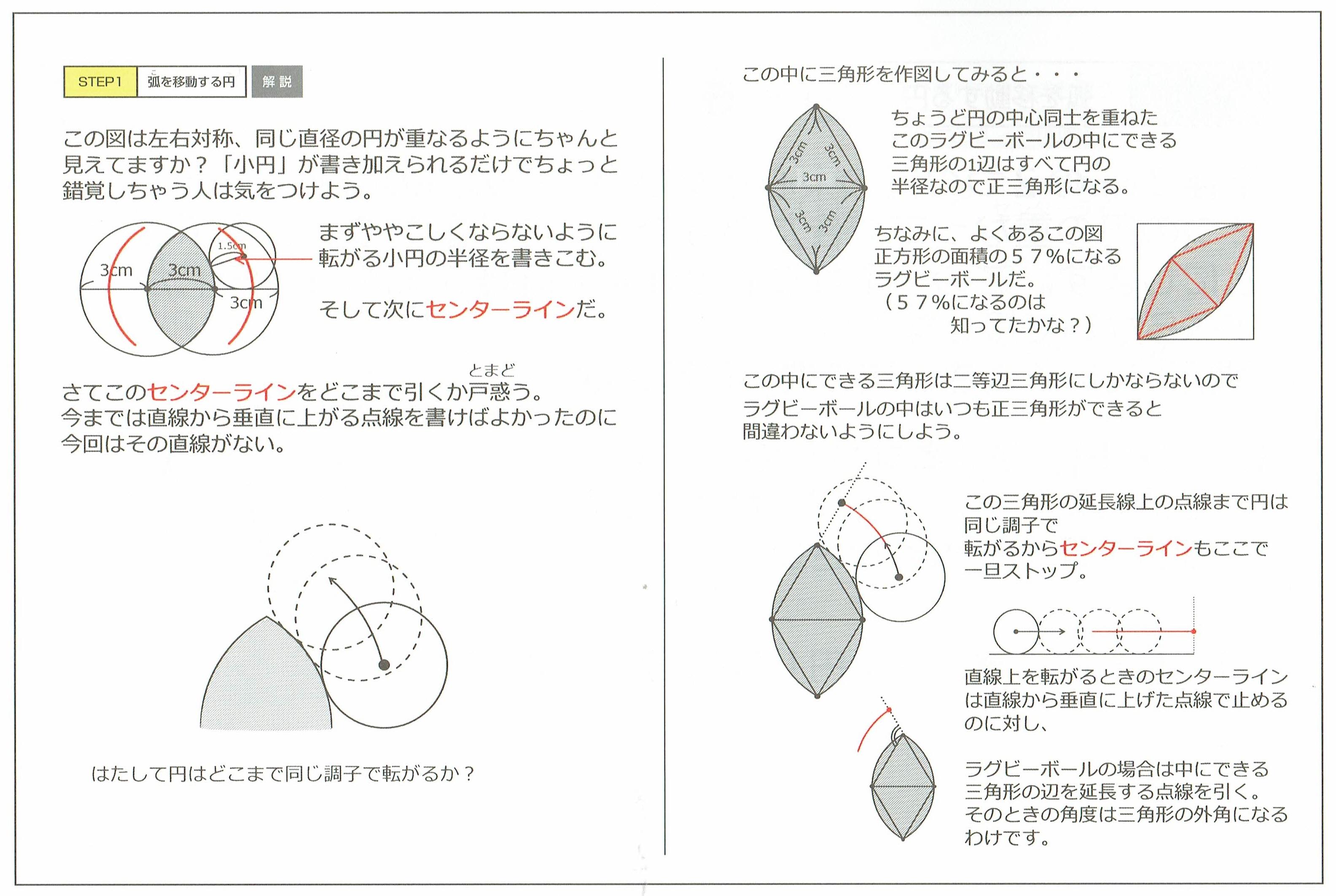 弧を移動する円1