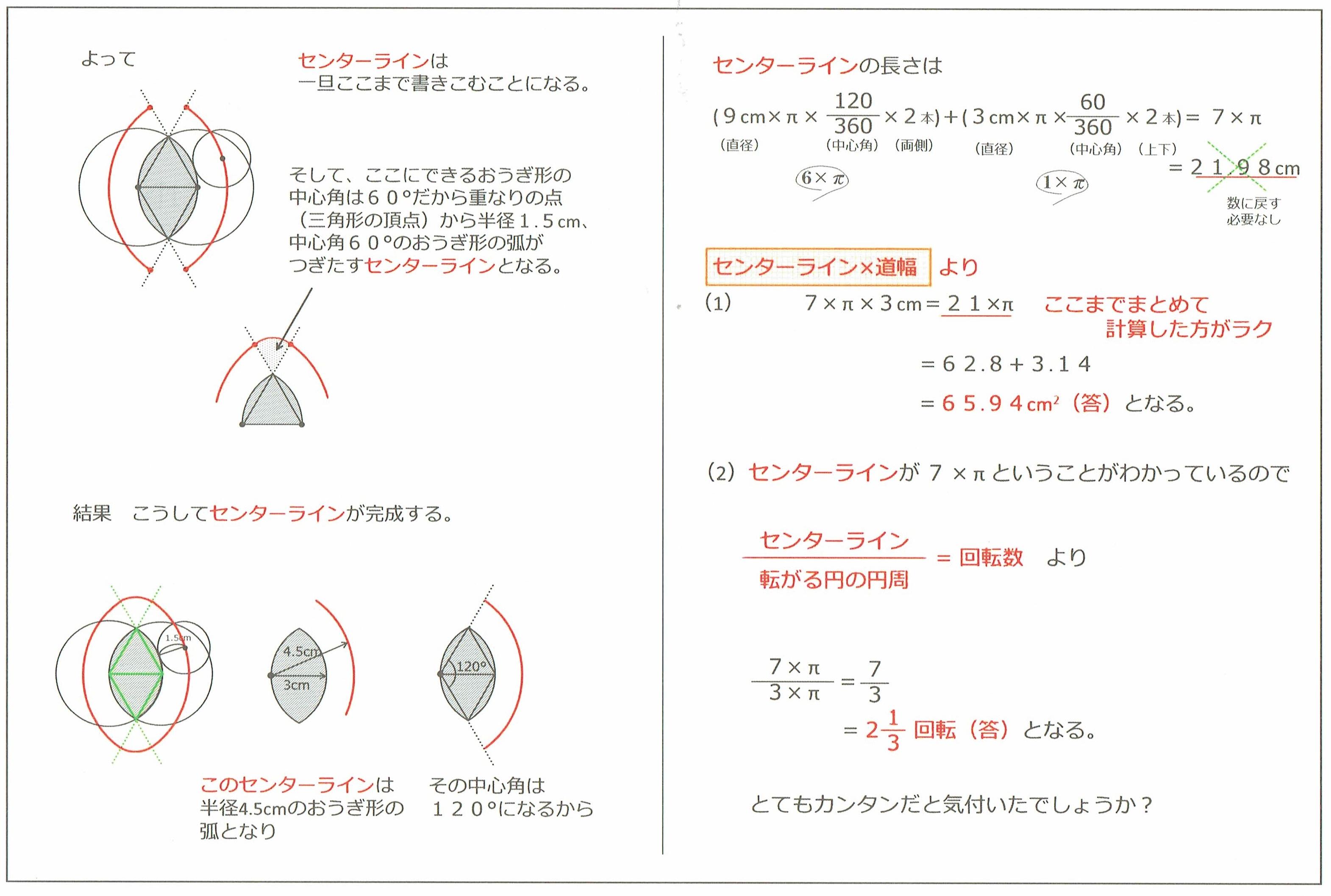 弧を移動する円2