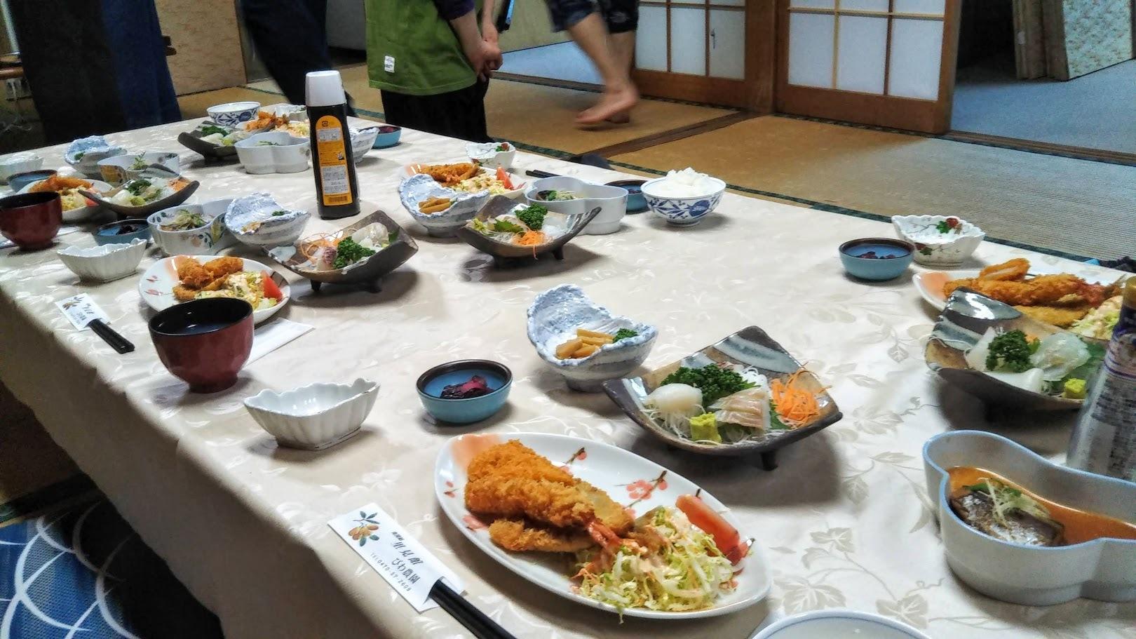 岩井合宿 夕食