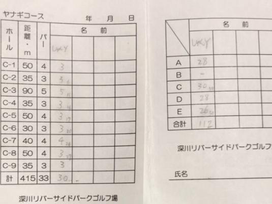 深川リバーサイドPG_スコア (3)