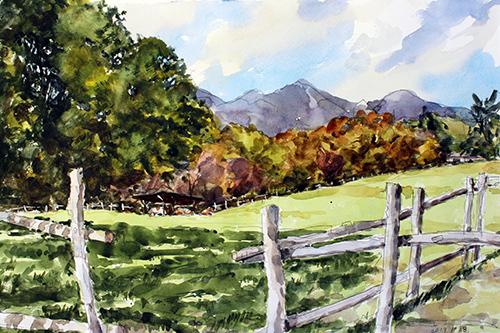 南ヶ丘牧場の秋