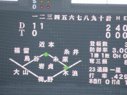2019阪神中日13