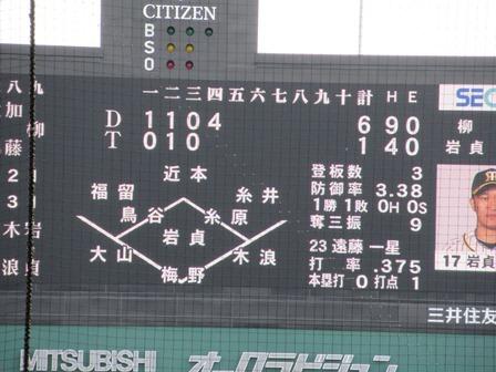 2019阪神中日48