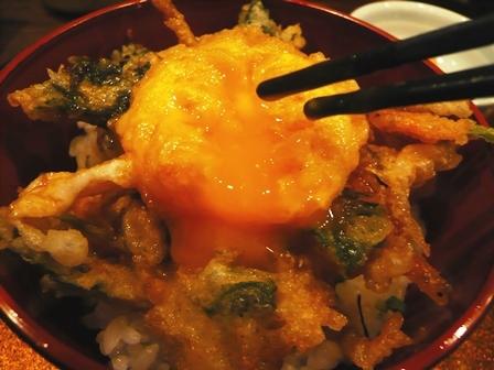 心来:コース料理;かき揚げ丼2